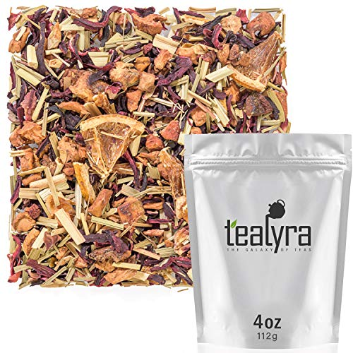 Tealyra - Strawberry Orange Sunrise - Hibiscus Strawberry Lemongrass - Herbal Fruity Loose Leaf Tea - Vitamins and Antioxidants Rich - Low Caffeine - All Natural - 112g (4-ounce) ()