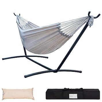 Double Hammock Lazy Bed Chair 450 LBS Swinging Outdoors Hammocks Summer Design
