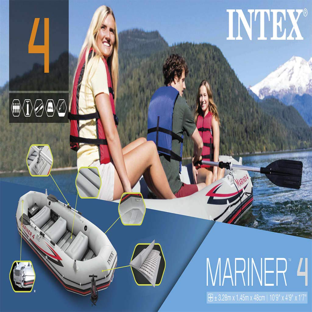 vidaXL Intex 68376NP Mariner 4 - Barca Hinchable (328 x 145 ...