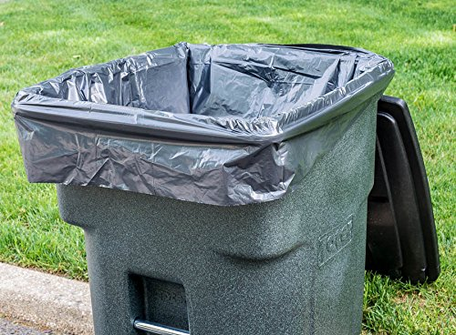 plasticplace 95 gallon trash bags 1 5 mil 61 w x 68 h black 50 case taxfree 818331021188 ebay. Black Bedroom Furniture Sets. Home Design Ideas