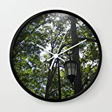 Society6 Lamppost, Wellesley College Wall Clock Black Frame, White Hands