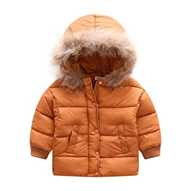 582f2a4e890c Amazon.com  Fashion Kids Coat Boys Girls Thick Hooded Down Coat ...