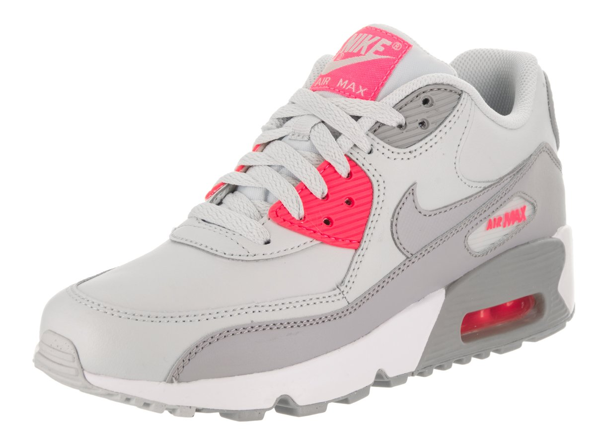 best service a4a63 43c75 Galleon - Nike Youths Air Max 90 Leather Trainers (7 M US Big Kid)