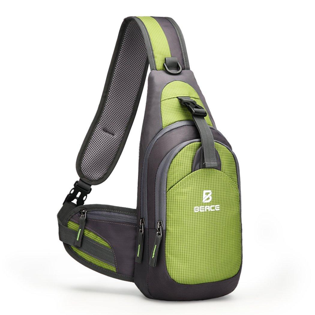 Sling Bag for Men & Women - Chest Shoulder Unbalance Crossbody Backpack Water Resistant Daypack for Gym Travel Hiking good