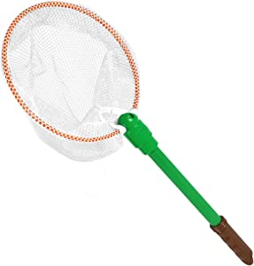 Nature Bound Bug & Butterfly Net with Nylon Netting and Floating Handle Toy, White, Model: NB503