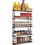 5 Tier Wall Mount Spice Rack Organizer,Pantry Cabinet Door Spice Shelf Storage