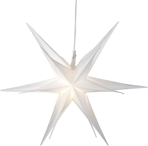 Northlight 22 White LED Lighted Foldable Moravian Star Hanging Christmas Decoration