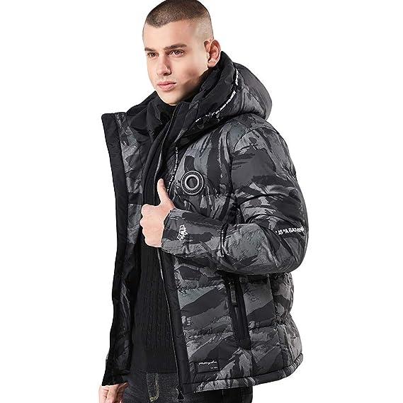 LisYOU F Hoodies Coat Men Full Zipper Warm Pockets Casual Outwear Parka Down Jacket at Amazon Mens Clothing store: