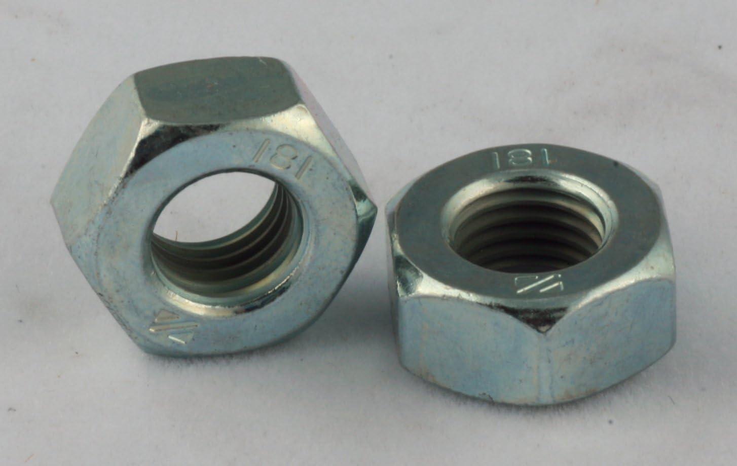 Hex Machine Screw Nuts Zinc 100 Pack 5//16 x9//16 x 7//32