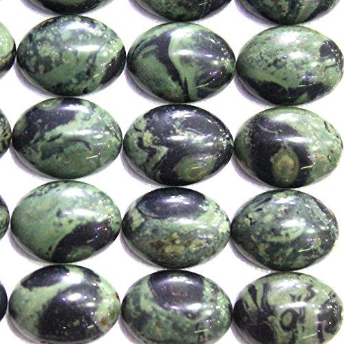 fashiontrenda 6pcs Natural Gemstone Oval 13*18mm Cabochons for Jewelry Making Beads Cabs (Kambaba Jasper)
