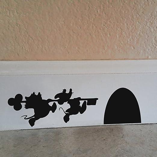 Cartoon/ /Souris de Mickey et Minnie House Sticker Autocollant Mural en vinyle Blanc Vinyle 9.5w x2.5h