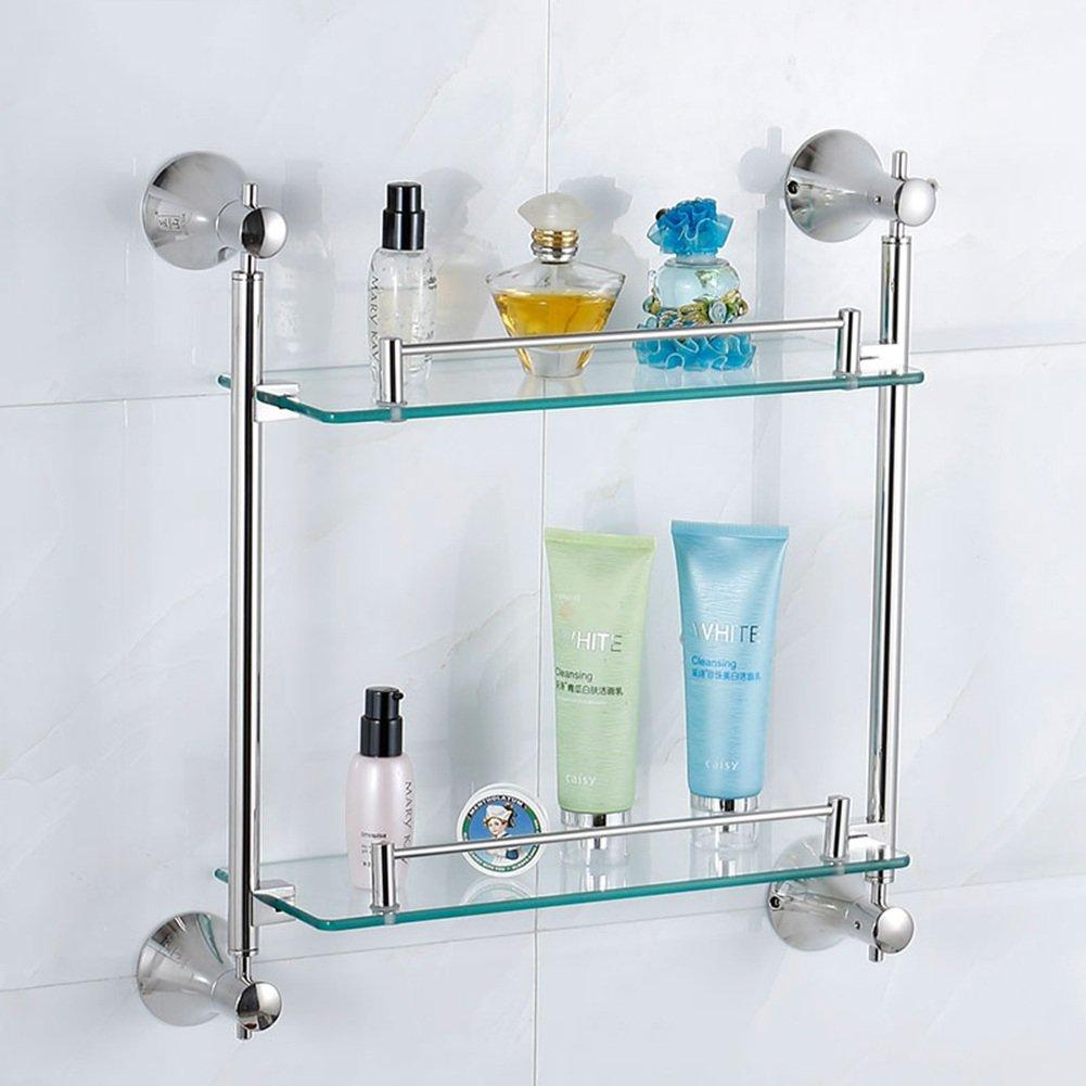 WENZHE 風呂用 ラック トレイ ホルダー シャワー ラック コーナー 棚 壁掛け式タオル掛け ガラス ステンレス鋼、 4のスタイル ( サイズ さいず : 470*140*88mm ) B07916P7HX 470*140*88mm 470*140*88mm