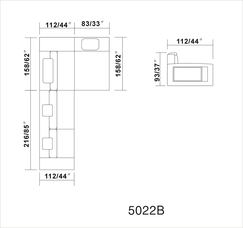 Amazon VIG Furniture 5022 Polaris Orange Bonded Leather
