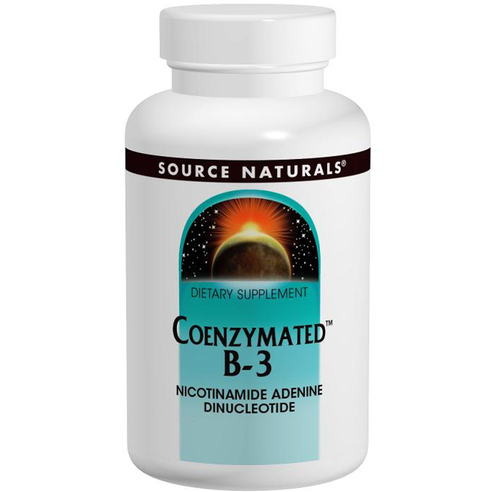 Source Naturals Coenzymated B-3 25mg Nicotinamide Adenine Dinucleotide - 60 Tablets (Pack of 6)