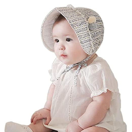 6a473e3bb3a AMA(TM) Newborn Baby Girls Cotton Royal Beret Beanie Hat Cap Sunbonnet (Blue