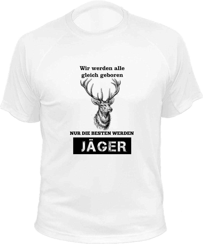 Vir Werden alle gleich geboren Jagd Geschenke Hirsche J/äger T Shirt