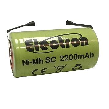 Batería Pilas Ni-Mh SC 2200 mAh 1,2 V 2.2 Ah con láminas