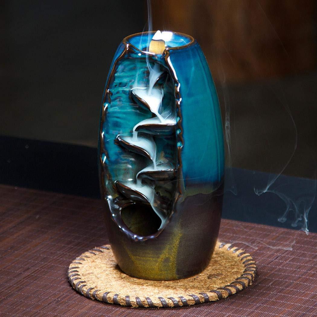 Risup Ceramic Backflow Incense Burner Incenser Holder Home Decor Aromatherapy Ornament with 10pcs Backflow Incense Cone by Risup (Image #4)