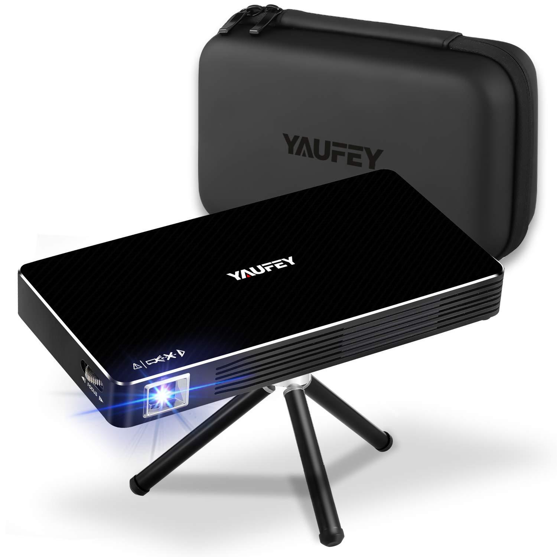 Yaufey Mini Beamer DLP Beamer Tragbarer Pocket Android Beamer Projektor unterst/ützt 1080P
