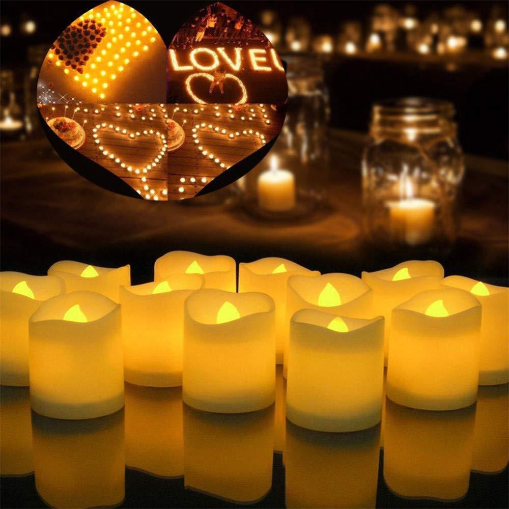 axaya Candela Senza Fiamma Candele a LED solari Luci da t/è Impermeabile Romantico per Vacanze Natale Camera da Letto Festa Ringraziamento Decorazioni da Tavolo-Cool White