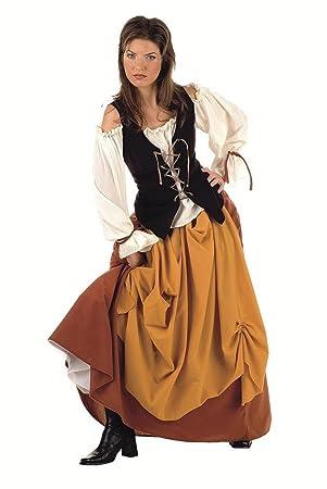 Limit Sport - Disfraz de campesina medieval para adultos, talla XL (MA516)