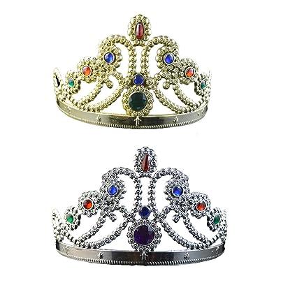 Amazon.com: 2 piezas de la princesa Tiara Corona Niña Tiara ...