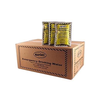 Amazon.com: Mayday, caja con bolsas de agua para emergencia ...