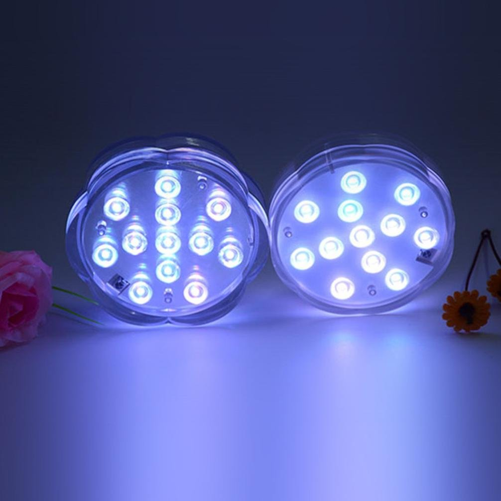 Sumergible de lámpara luz LED con mando a distancia,STRIR Luces Sumergibles Control Remoto Jarrón Lámpara para Decoración del Hotel, Acuario, Estanque, ...