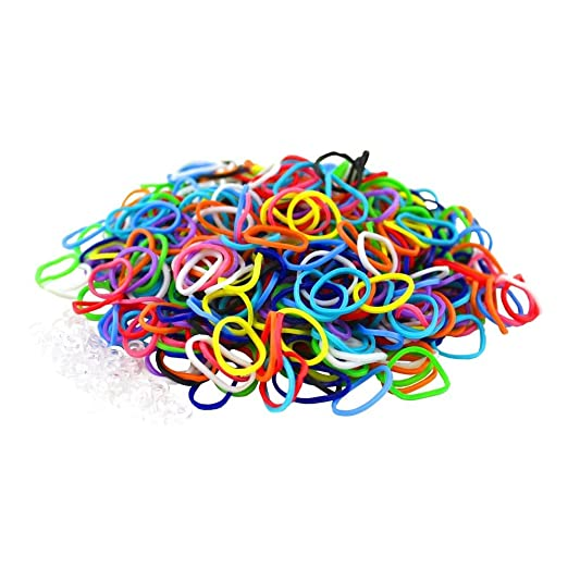 411 opinioni per 3000 Colourful LOOM BANDS & 125 Clips!