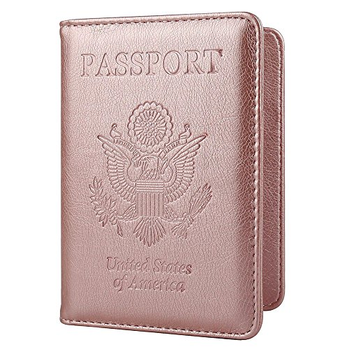 Passport Holder Travel Cover Case – HOTCOOL Leather RFID Blocking Wallet For Passport