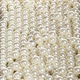 Sooyee Art Faux Pearls 1700-Pcs Loose Beads no Hole 1.1 Lbs (8mm,Ivory) for Vase Fillers, Table Scatter, Wedding, Birthday Party Home Decoration