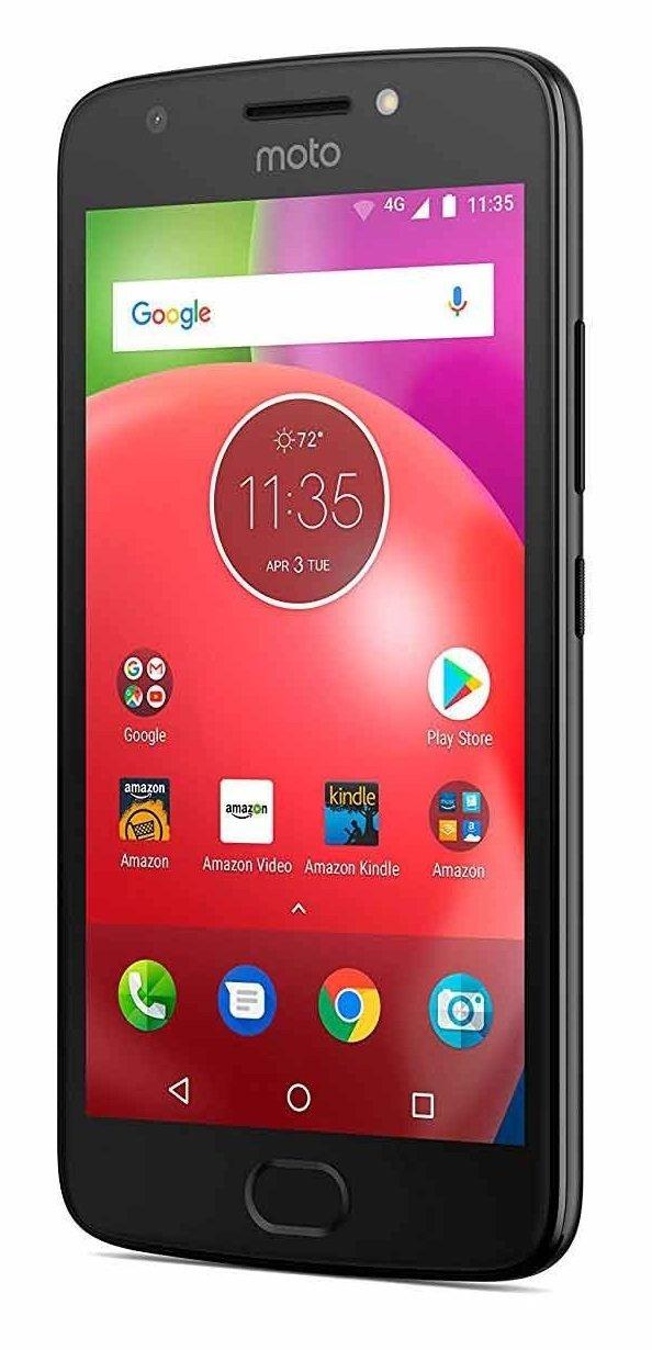 Motorola MOTO E4 w/ 5-inch HD Display Android 7.1 Verizon Wireless CDMA Smartphone - Black