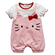 94d56e369 StylesILove Hello Kitty Short Sleeve Baby Girls Romper (80/6-12 Months,  Pink)
