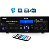 Wireless Bluetooth Power Amplifier System - 200W Dual Channel Sound Audio Stereo Receiver w/ USB, SD, AUX, MIC IN w…