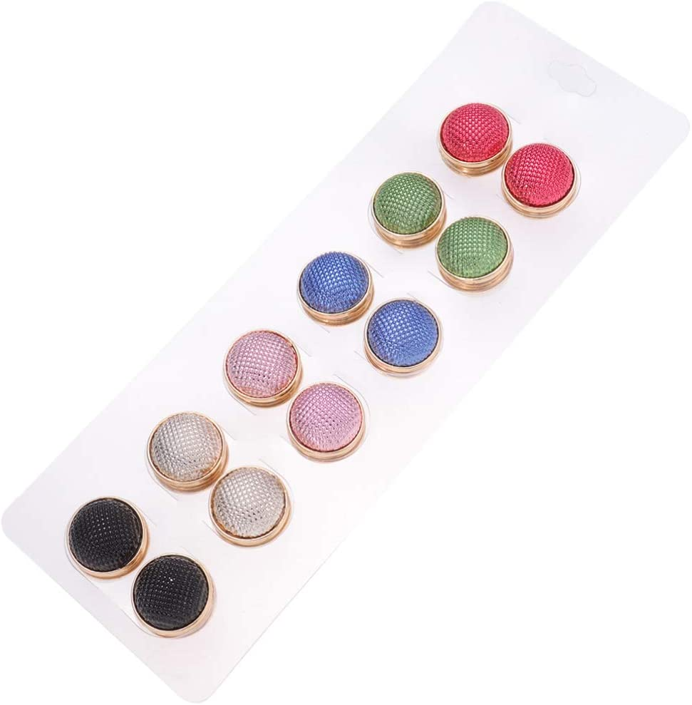HEALLILY 12pcs Magnetic Scarf Brooch Pin Magnetic Snap Brooch Round Hijab Pins Scarf Buckle Snaps Button for Birthday Wedding Party Clothes Decoration Random Color KC