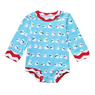 e934d64d8b1d Amazon.com  Infant Baby Boys Girls 3 Months-4T Christmas Snowman ...