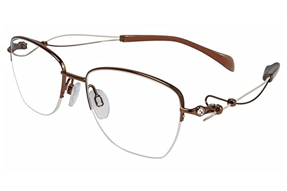 fb85e31ef Charmant Line Art Women's Eyeglasses XL2097 XL/2097 BR Brown Optical Frame  50mm