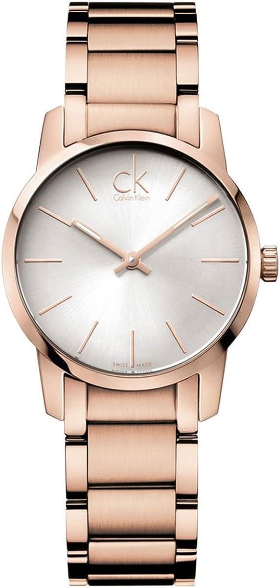 Calvin Klein Reloj Analógico para Mujer de Cuarzo con Correa en Acero Inoxidable K2G23646