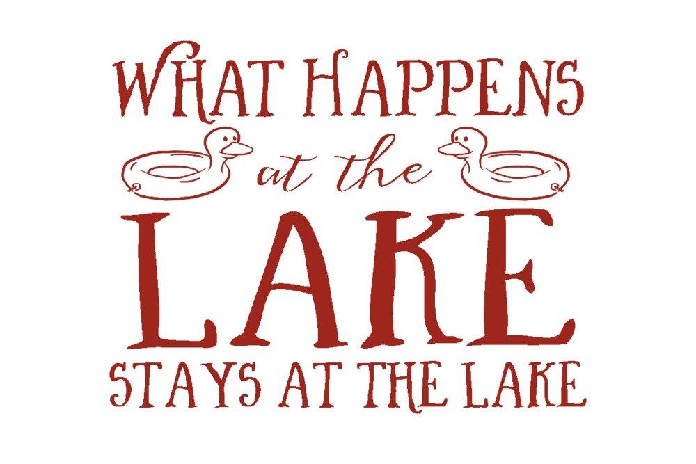 What Happens At The Lake ( Ducks ) 12 x 18 Art Print LANT-56024-12x18 B014ZQCYQW 12 x 18 Art Print