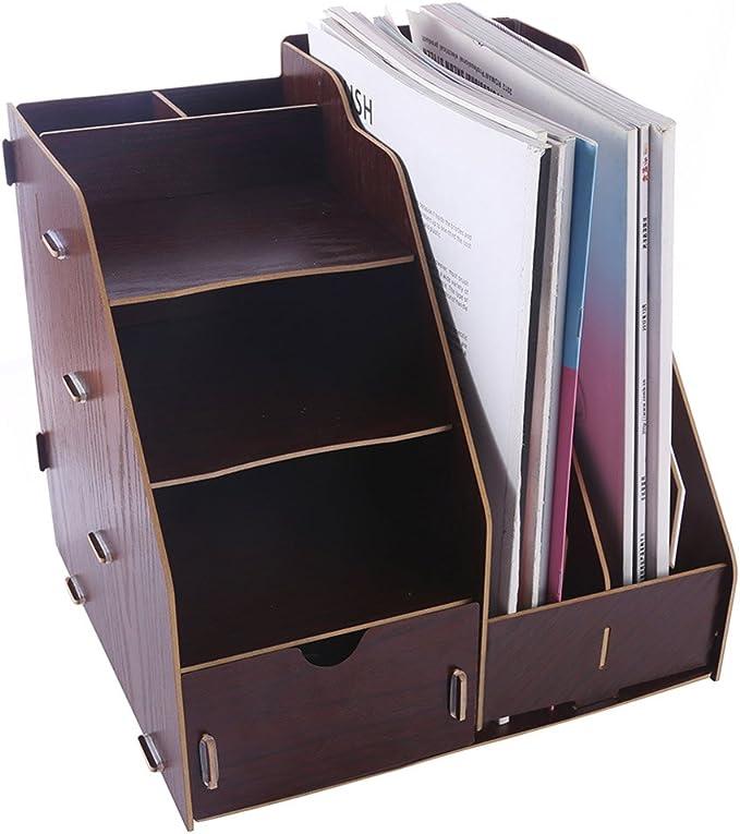 LoKauf Stehsammler Metall Zeitschriftensammler B/ücher Organizer B/üro
