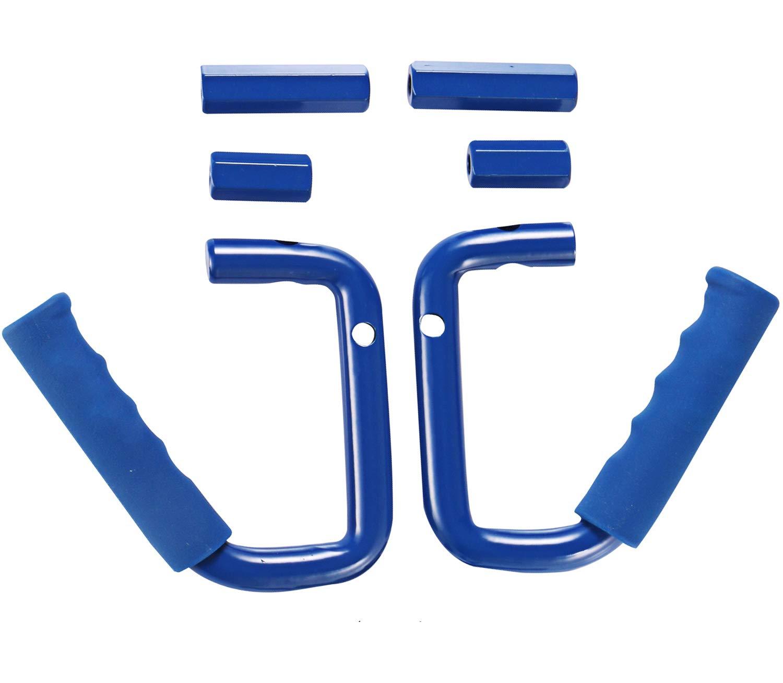 u-Box Jeep Wrangler Front Grab Handle Solid Steel Grip Bar in Blue for Jeep Wrangler JK 2007-2018 5559027294