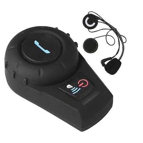Suntime Auricular Bluetooth Motocicleta con Sistema de Comunicación de Micrófono, con Pantalla LCD Moto Inalámbrico