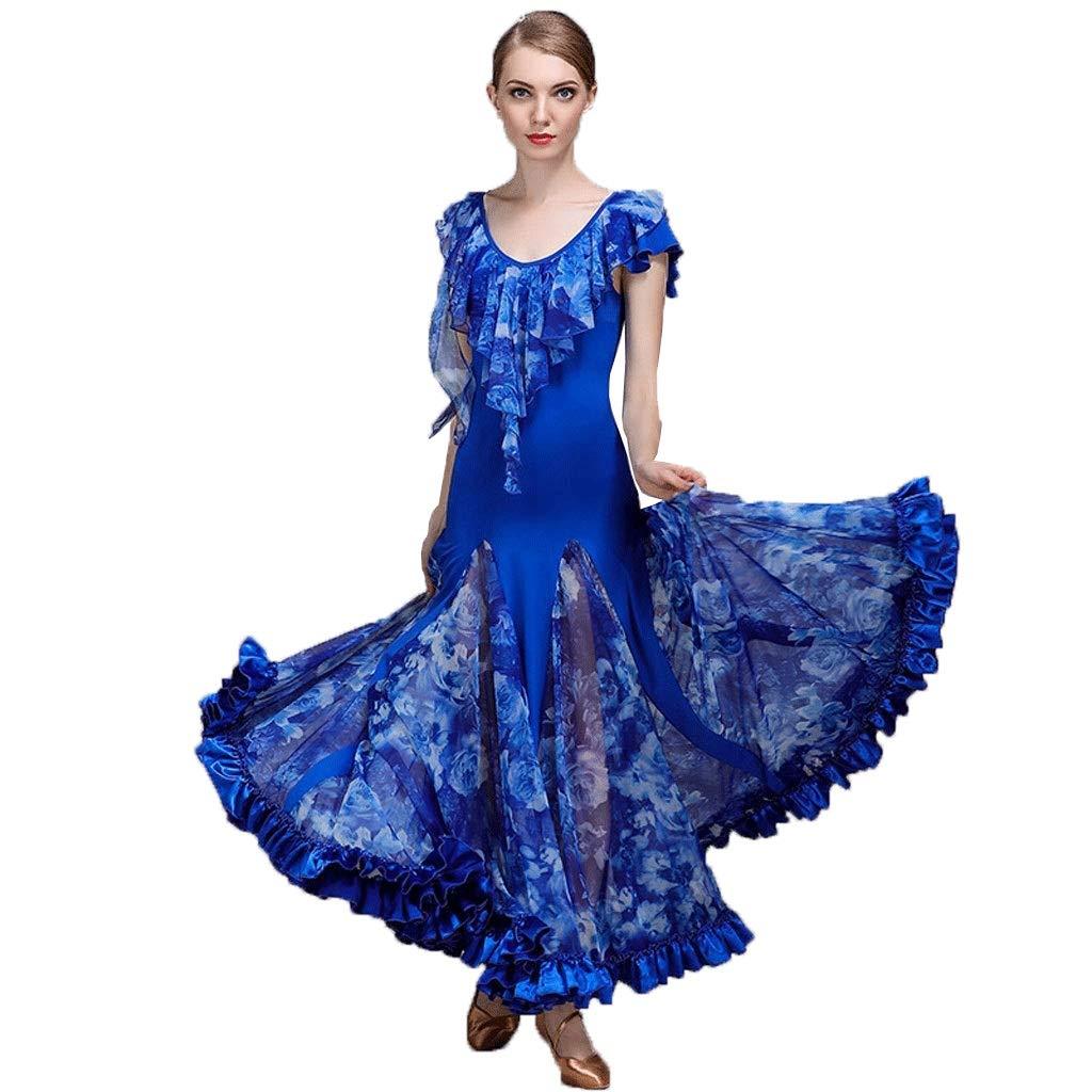 【最新入荷】 現代のダンスのスカートのパフォーマンスのドレスの女性のサテンのスカートのスカート全国標準の社交ダンスの衣装 B07QB7L775 B07QB7L775 XXL|ブルー XXL|ブルー ブルー ブルー XXL, ドルチェモデルノ:8d57ac71 --- a0267596.xsph.ru