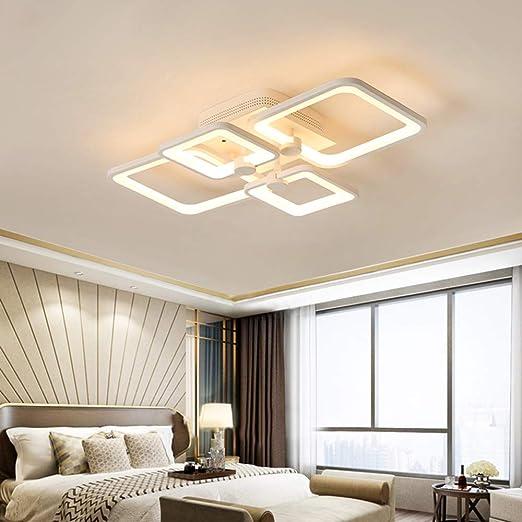 Lámpara de Techo Regulable LED Lámpara de Mesa de Comedor Plafones de Acrílico Blanco Pantalla Lámparas de Techo Decoración Lámpara de Salón Dormitorio Comedor Luz de Cocina Metal Luces: Amazon.es: Iluminación