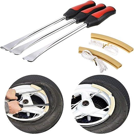 Xigeapg Tire Levers Spoon Set,Heavy Duty Motorcycle Bike Car Tire Irons Tool Kit