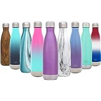 Simple Modern Wave Bottiglia d'Acqua - Isolamento Sottovuoto 18/8 Acciaio Inossidabile - Bottiglia Termica Portatile Hydro Bocca Stretta Swell Tazza da Viaggio Flask