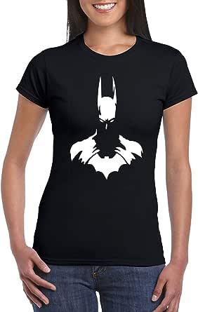 Female Gildan Short Sleeve T-Shirt - Batman Bust design