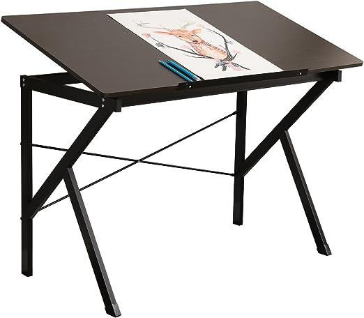 SogesFurniture Mesa de Ordenador 120x60cm Mesa de Dibujo para Arte ...
