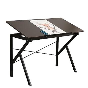 Sogesfurniture Bureau Dordinateur En Bois 120cm Réglable Table à