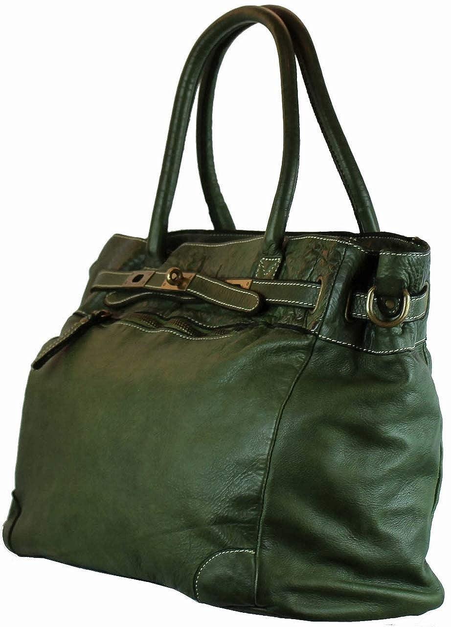 BZNA Bag Mila Grün Grün Grün Grün vintage  Designer Business Damen Handtasche Ledertasche Schultertasche Tasche Leder Shopper Neu B07NJ8CPCK Schultertaschen 0a5165